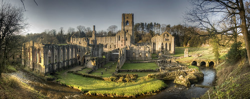 panorama fountainsabbey nationaltrust hdr precarious
