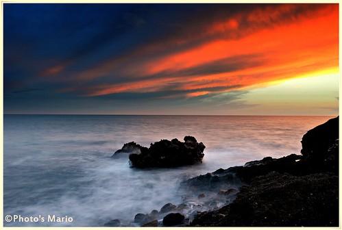 sea beach de atardecer mar agua nikon playa murcia nubes cielos seda rocas mediterráneo región neutro filtros águilas d3100