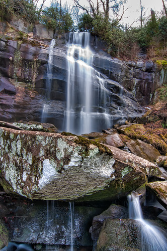 forest waterfall national cherokee