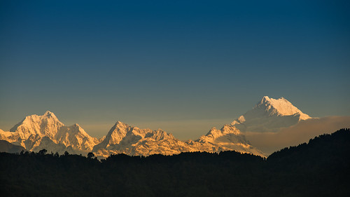 morning travel winter light sunset sky india mountain snow cold ice nature beautiful sunrise season landscape dawn high scenery rocks glow dusk snowy hill scenic peak crest mount alpine summit himalaya majestic range sikkim alpenglow kanchenjunga kanchendzonga