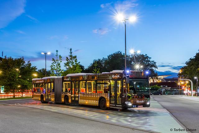 Hochbahn 7431 | Hamburg, E-Bus Terminal (Adenauerallee)