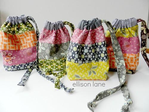 drawstring pouches scrappy | by Ellison Lane