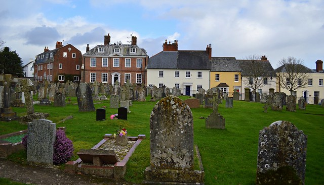 Ottery St Mary from the Churchyard