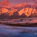 Foggy Sunrise Grand Tetons by Chip Phillips