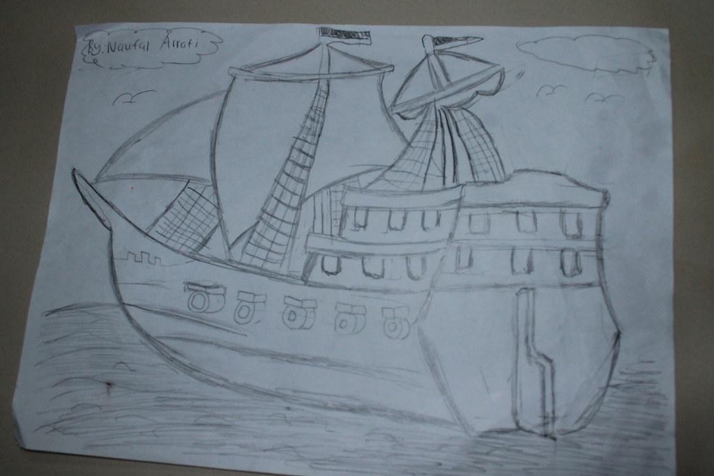 Sketsa Kapal Layar Belajar Gambarkali Ini Gua Persembahk Flickr