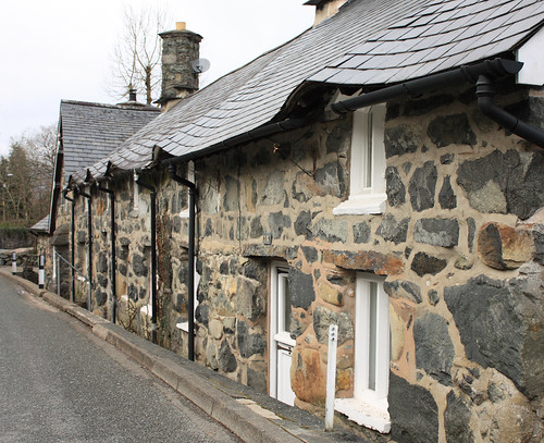 Slate roof and eaves | by Helen in Wales
