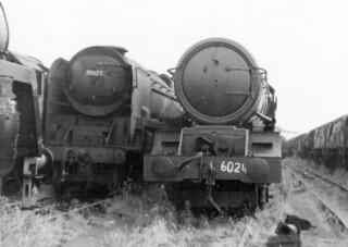 FC001186.   6024 (w 35027) Barry Docks, Dai Woodham's yard. 15-08-1972.