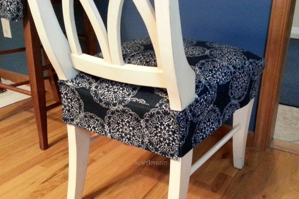Dining/Kitchen Chair Seat Cover | Back view, finished blogge ...