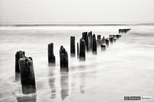 ocean new wood york nyc longexposure sky bw white newyork motion black texture beach water outdoors photography sand nikon flickr wave gothamist ahmed rockaway d90 towfiq towfiqahmed