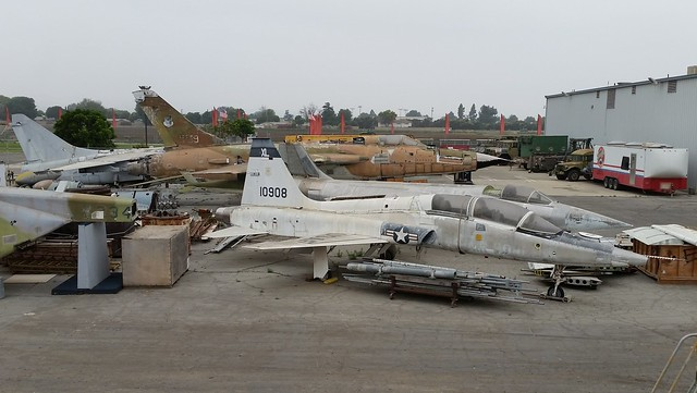 Part of the storage/ restoration area with the Yanks Air-Museum, Chino, California.