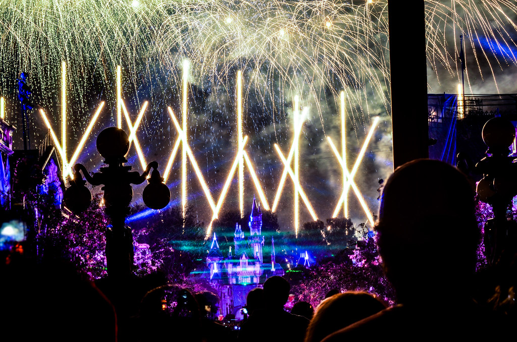 Fireworks projections