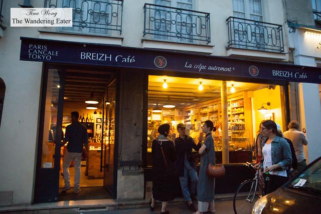 Breizh Café - Retail shop side