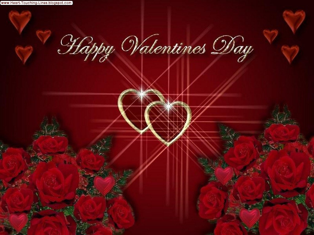 Day lines touching valentines heart Embrace The