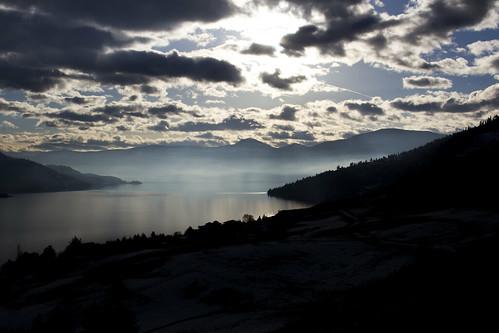lake beautiful clouds landscape outside outdoors bay cool bc view britishcolumbia okanagan lakes valley vernon okanaganlake