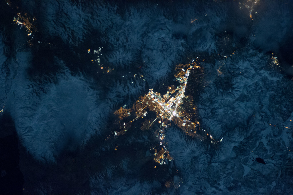 Reno, Nevada at Night (NASA, International Space Station ...