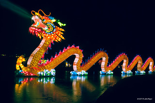 "The dragon of the ""China Light"" exhibition in the Park of Rotterdam [Explore 14 February, 2013] 