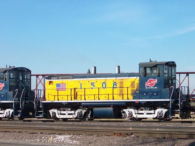 A&S 1508 at work Alton & Southern  Gateway Yard 2-06-06