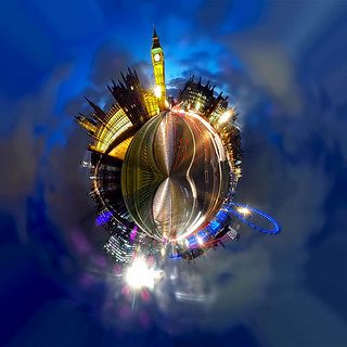 Westminster Bridge at Night - Polar Panorama | by Anatoleya