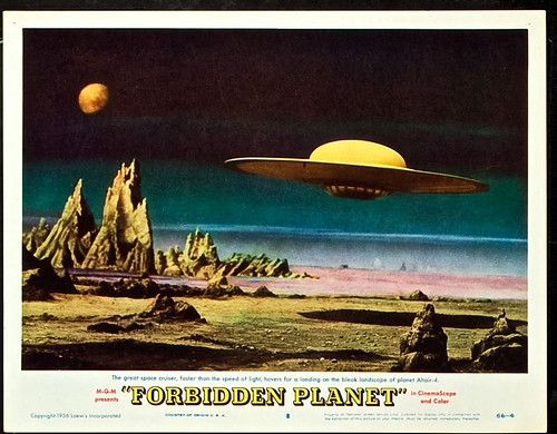 "Forbidden Planet (MGM, 1956). Lobby Card Set of 13 (11"" X 14""). 