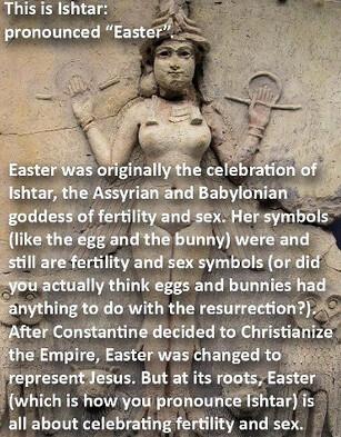 #Easter #Ishtar Eggs and bunnies.