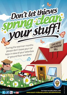 Don't let thieves spring clean your stuff! | by West Midlands Police
