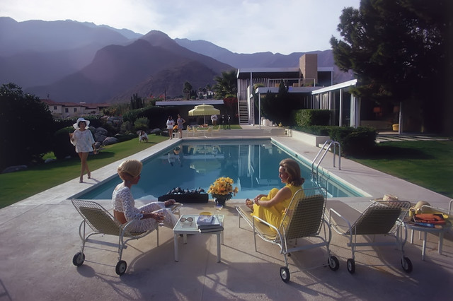 At the Edgar Kaufman House in Palm Springs in 1970 - Taken by Slim Aarons