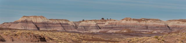 Driving from the south to the north in Petrified Forest National Park