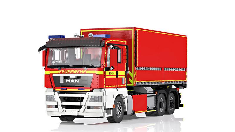 LEGO MAN TGX 26.400 hooklift truck - Wechselladerfahrzeug (2)