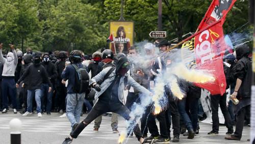 圖09.法國再現反勞動法改革示威 警方逮捕12名抗議者(0518)