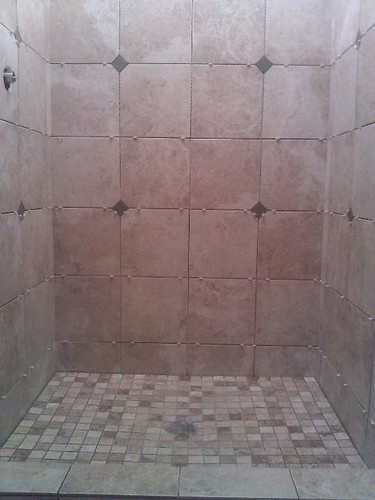 Ceramic tile with diamond accents