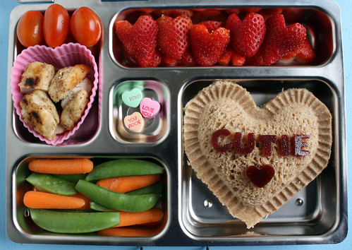 Preschool Conversation Heart Valentine Bento #400 | by Wendy Copley