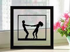 Couple In Love Handmade Original Papercut