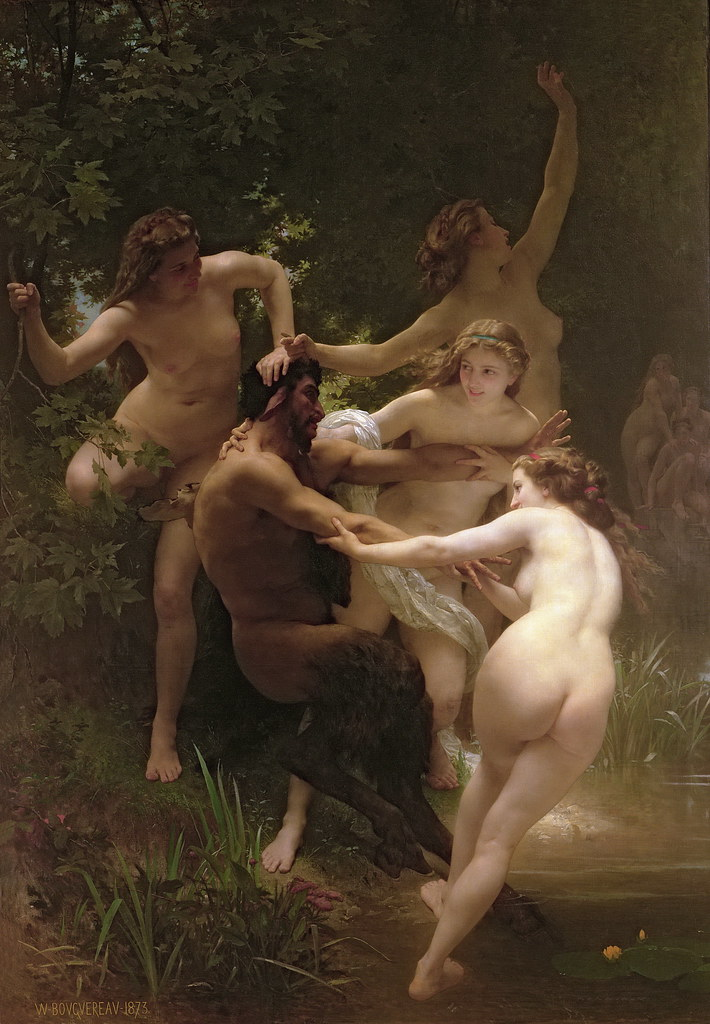 William Bouguereau - Nymphs and Satyr [1873]