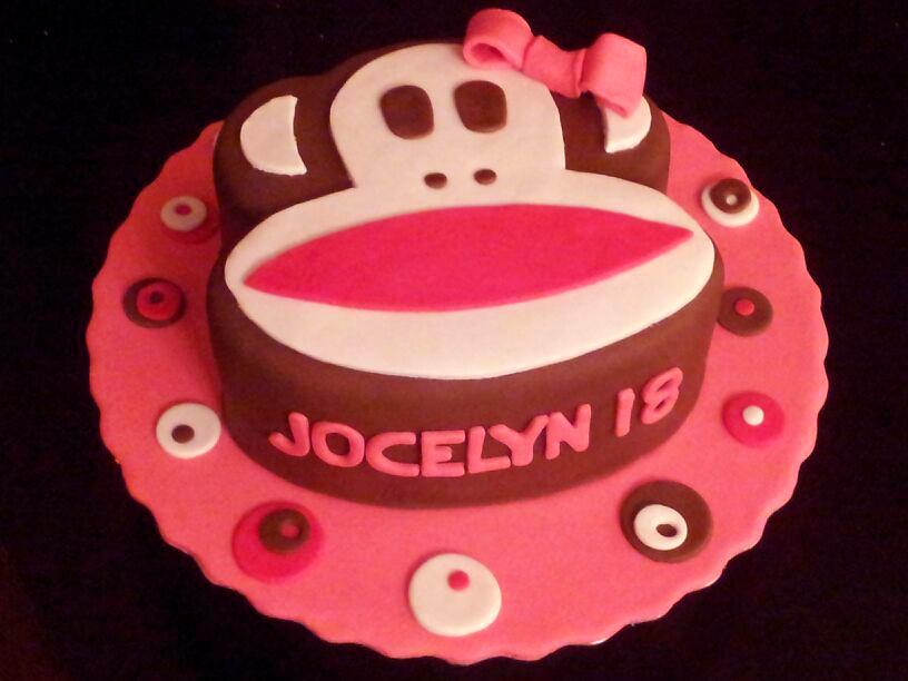 Paul Frank Monkey Birthday Cake