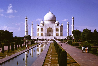 A common view of the Taj Mahal