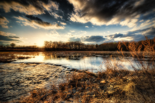 sunset water river pond massachusetts newengland running historic hdr acushnet tonemapped trigphotography frankcgrace hamlinsmillpond