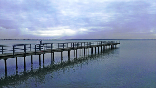 park wood lake fish water pier spring fishing dock waterfront cloudy michigan dreary calm boardwalk plank lakestclair newbaltimore