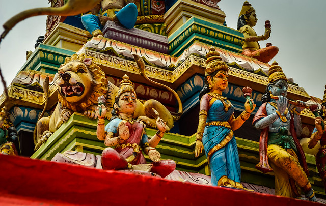 Temple roofs of South India be like!