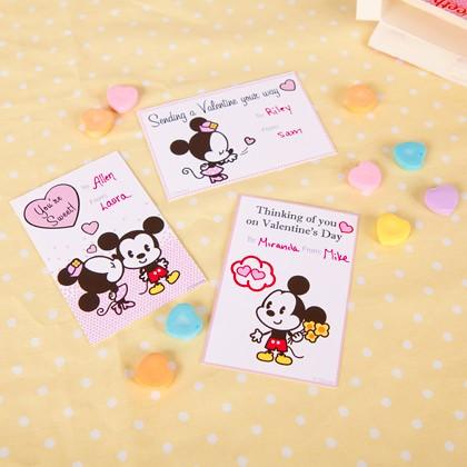 Mickey Minnie Cuties Valentine Cards Printable Photo Flickr