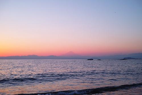 Mt. Fuji over Sagami bay #2
