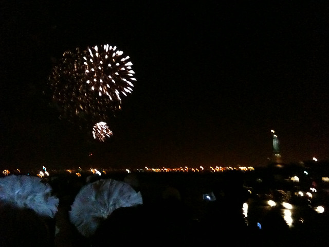 Fireworks for New Year in New York