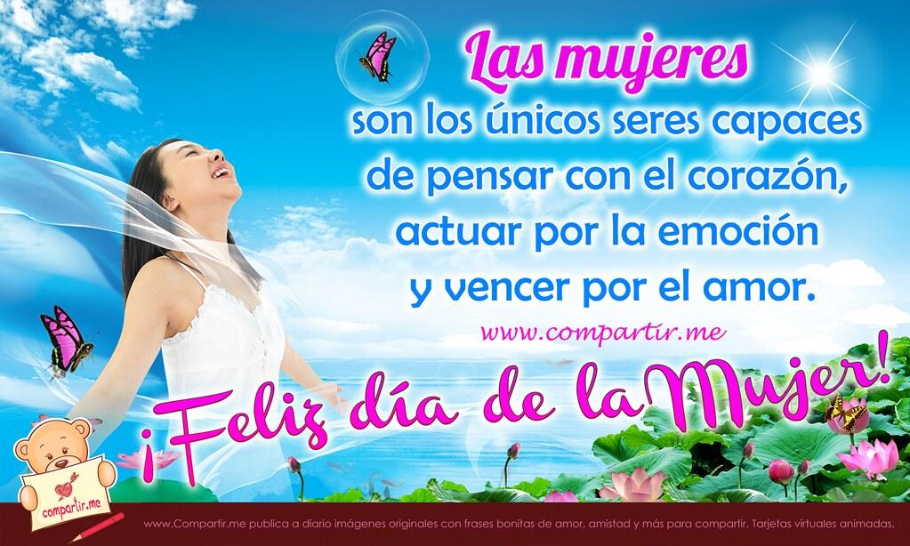 Tarjeta Con Frase Por El Día De La Mujer 8 De Marzo Flickr