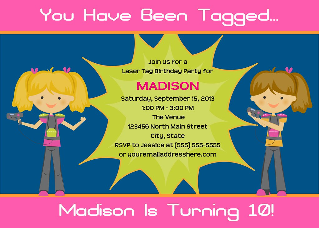 image relating to Printable Laser Tag Birthday Invitations called Printable Laser Tag Birthday Get together Invitation I contain innumerable