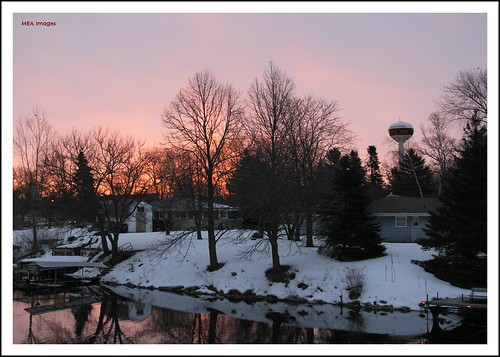 trees houses winter sun snow reflection nature water wisconsin sunrise canon river snowscene waterscene canoneos60d picmonkey picmonkey:app=editor