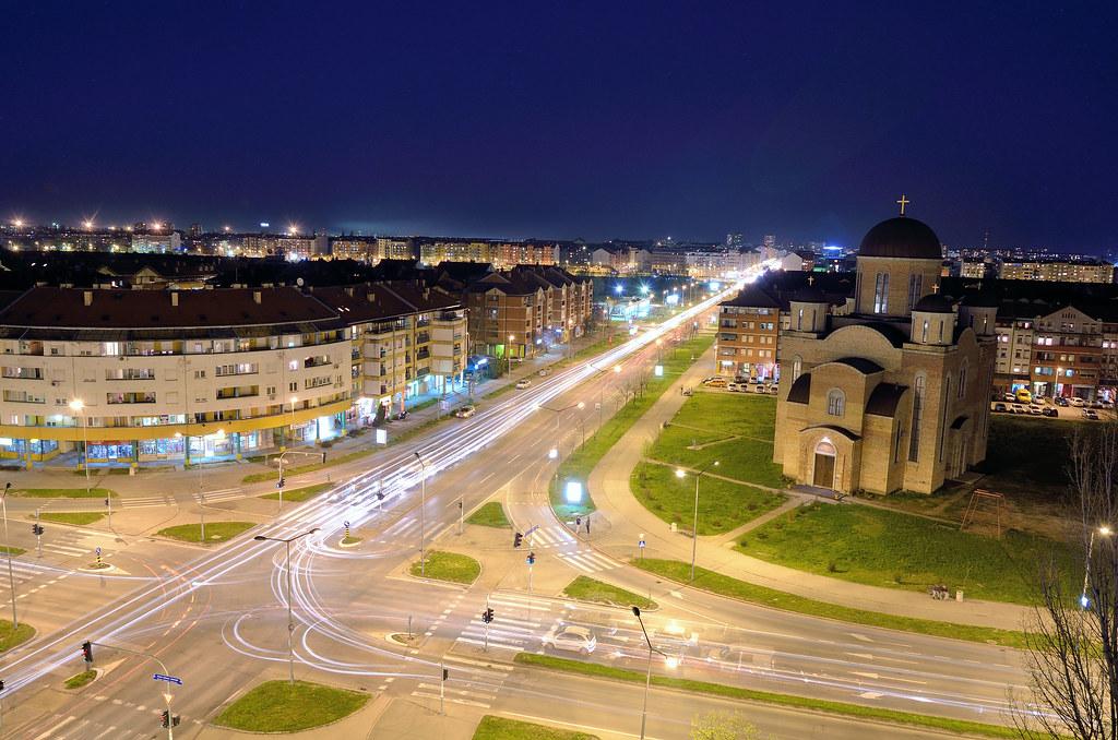 Pogled na novo naselje,Novi Sad.