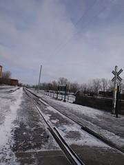 金, 2013-02-01 11:45 - 凍結したLachine運河 Atwater