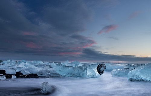 winter sky seascape ice beach sunrise landscape dawn frozen iceland icebergs jökulsárlón skaftafell bergs