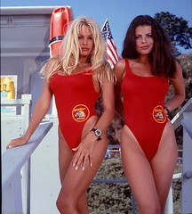Pamela Anderson and Yasmine Bleeth from Baywatch