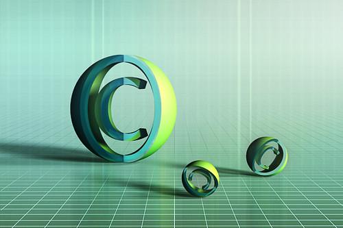 Free Stock: Copyright sign 3D render