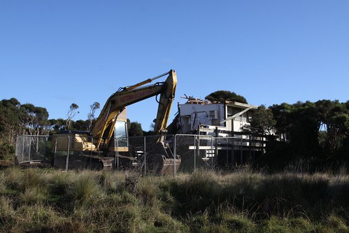 Second last house to be demolished on the Summerland Estate